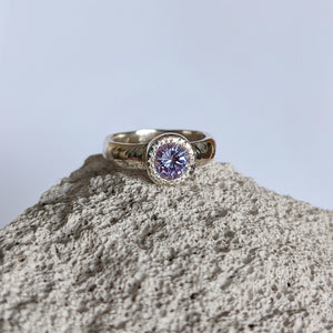 Lavander cz Textured Band