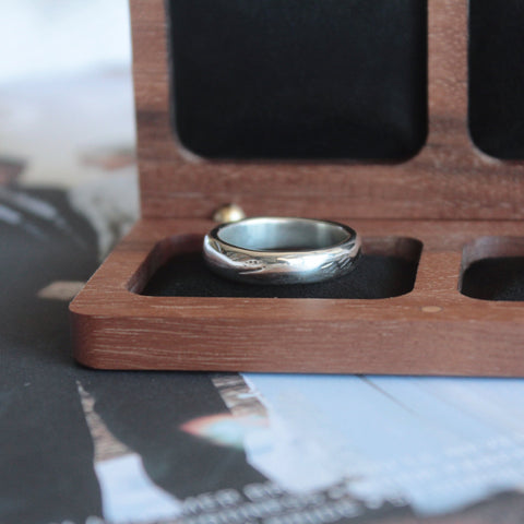 Textured Recycled Silver Wedding Band