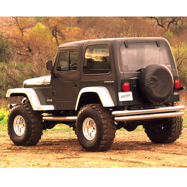 87-95 Jeep Wrangler Fender Flare Set  - Front and Rear (TJ Facelift Look)