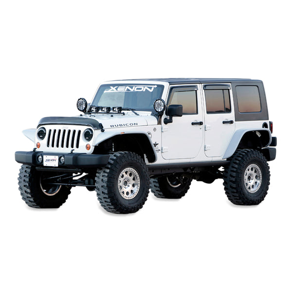 07-18 Jeep JK Fender Flare Set +1.5 (4 Door) - Front and Rear