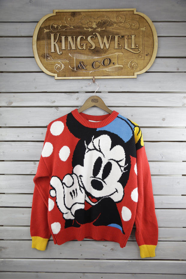 Women's Minnie Mouse Polka Dot Sweater