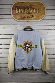 Mickey Denim Letterman Jacket