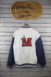 Mickey Grey Letterman Jacket