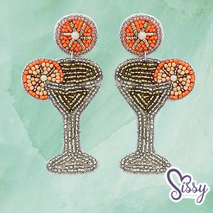 Citrus Cocktail Seedbead Earrings