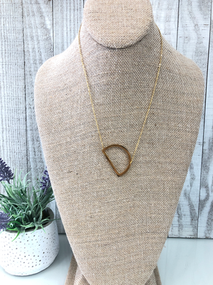 Gold Initial Necklace - D - Sissy Boutique