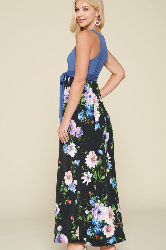 Gigi Floral Maxi Dress with Racerback