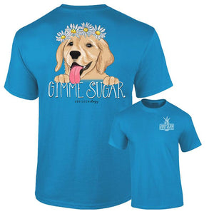 """Gimme Some Sugar"" Golden Retriever Pup Tee"