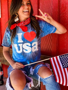I ♥️ USA TIE DYE GRAPHIC TEE
