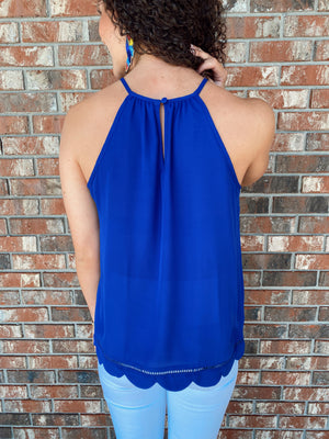 Royally You Scalloped Tank - Sissy Boutique