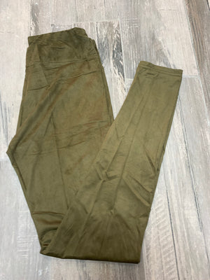 Moss Suede Leggings - Sissy Boutique