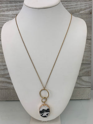 Stone gold necklace - Sissy Boutique