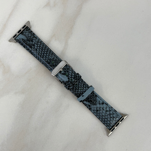 Grey & Black Snake Print Apple Watch Band