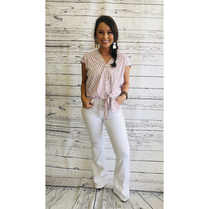 White Flared Jeans - Sissy Boutique