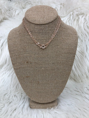 Rose Gold 3 Chain Choker Necklace - Sissy Boutique