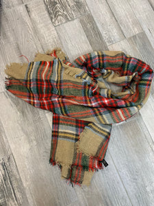Burlap Christmas Scarf - Sissy Boutique