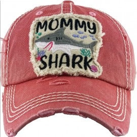 Coral Mommy Shark Cap - Sissy Boutique