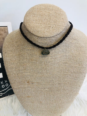 Georgia Leather Braided Choker - Sissy Boutique