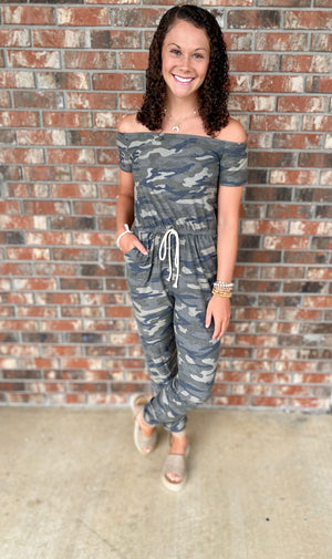 Came for the Camo Jumpsuit - Sissy Boutique