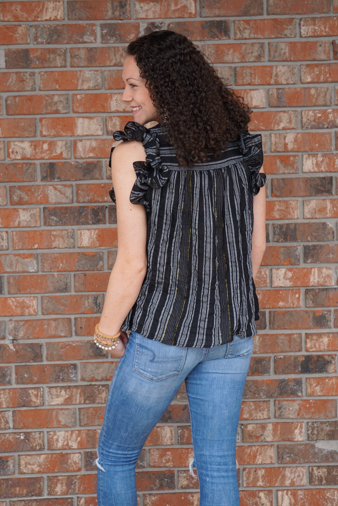 Straight for the Stripes Top - Sissy Boutique