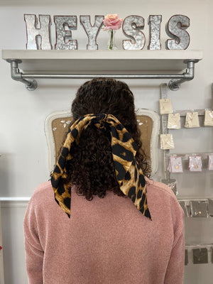 Cheetah Love Hair Scarf - Sissy Boutique