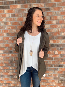 Look at Me Now Olive Jacket - Sissy Boutique