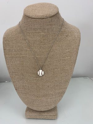 Baseball Pendant Necklace - Sissy Boutique