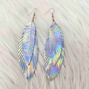 Fly High Leather Earrings