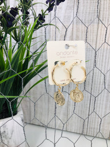 Gold Coin Mini Hoops - Sissy Boutique