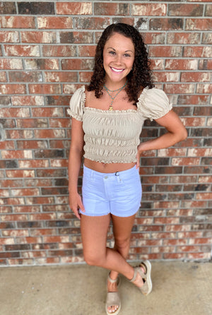 Smocked to Perfection Crop Top - Sissy Boutique
