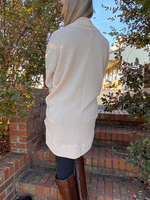 All Over You Waffle Knit Cardigan Ivory