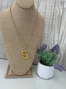 S' Branch Initial Pendant Necklace - Sissy Boutique