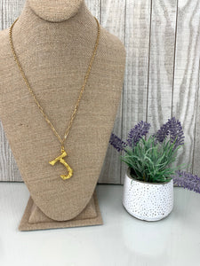J' Branch Initial Pendant Necklace - Sissy Boutique