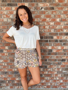 Sassy and Simple Snakeskin Shorts - Sissy Boutique