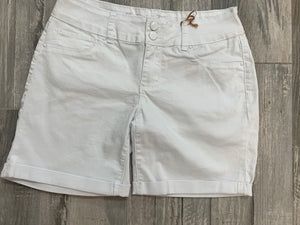 White Double Button Shorts - Sissy Boutique