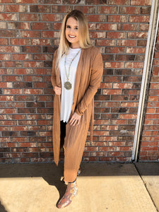 Wild Night Out Taupe Duster - Sissy Boutique