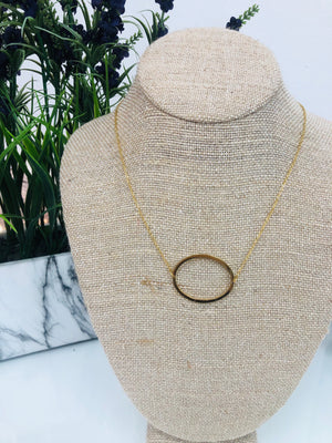 Gold Initial Necklace - O - Sissy Boutique