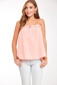 Blush Embroidered Cami/Tank Top