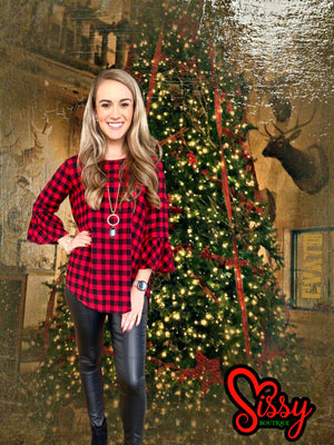 Buffalo Baby Doll Flannel Top - Sissy Boutique