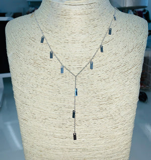 Silver Dainty Drop Necklace - Sissy Boutique