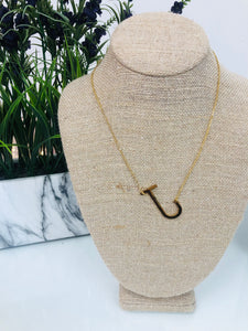 Gold Initial Necklace - J - Sissy Boutique