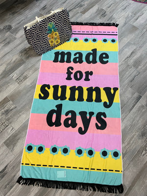 Made for sunny days Beach towel - Sissy Boutique