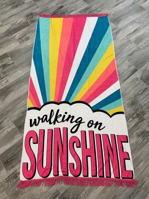 Walking on Sunshine Beach towel - Sissy Boutique