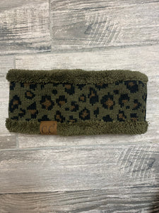 Leopard Olive Headband - Sissy Boutique