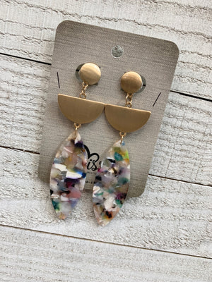 Multicolored Acetate Earrings - Sissy Boutique