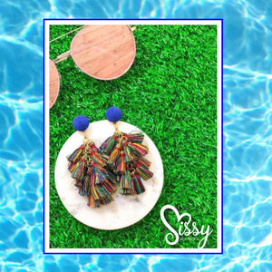 Multi-Colored Tassel Earrings - Sissy Boutique