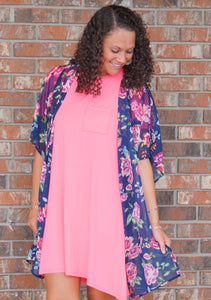 Frankie Floral Kimono - Made in the USA - Sissy Boutique