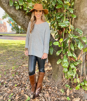 Fall Floppy Suede Hat with Braided Band