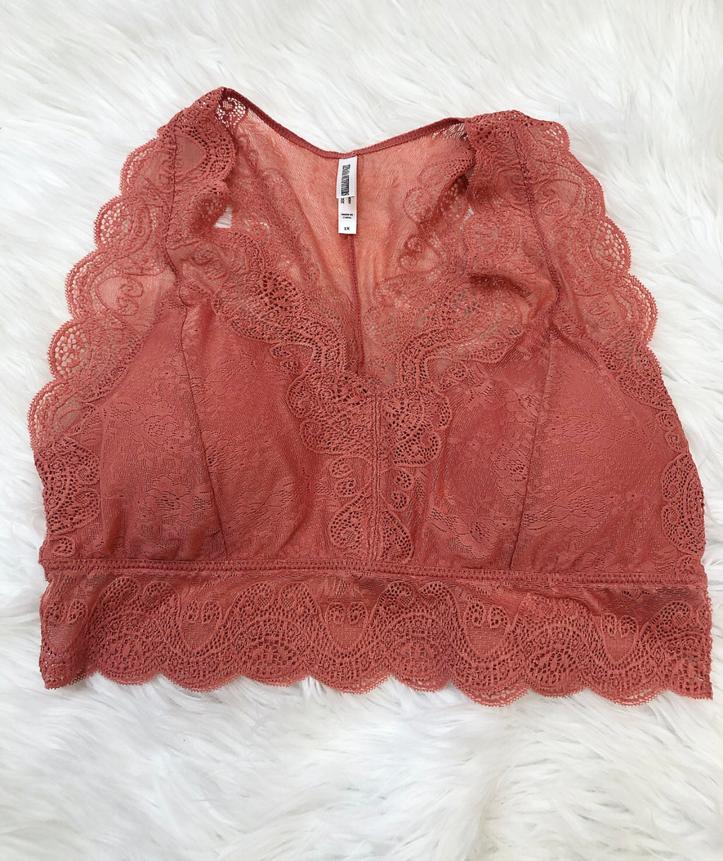 Coral dreams lace Bralette - Sissy Boutique