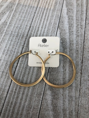Bent Hoops - Sissy Boutique