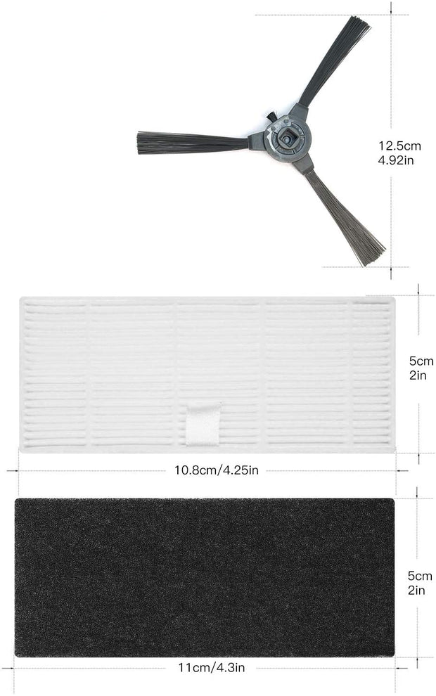 Replacement Part Kit ( 2 Side brushes, 1 filter) - iMartine Store